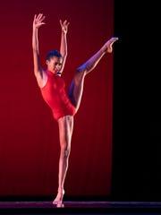 "Indiana Ballet Conservatory student Alexandra Manuel performs ""Sinner Man."""