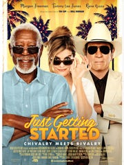 "The movie poster for ""Just Getting Started."""