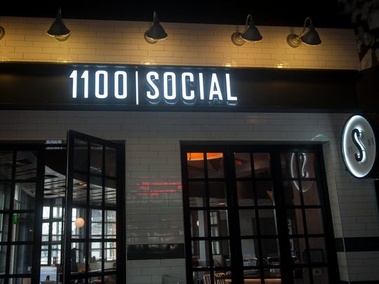 The exterior of 1100 Social located at Xfinity Live! in Philadelphia. The restaurant is a departure from the venue's usual fare.