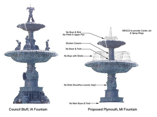 Proposed traditional option for the new Kellogg Park fountain.