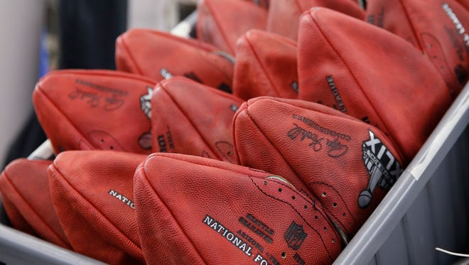 Clearly underinflated Super Bowl XLIX balls.