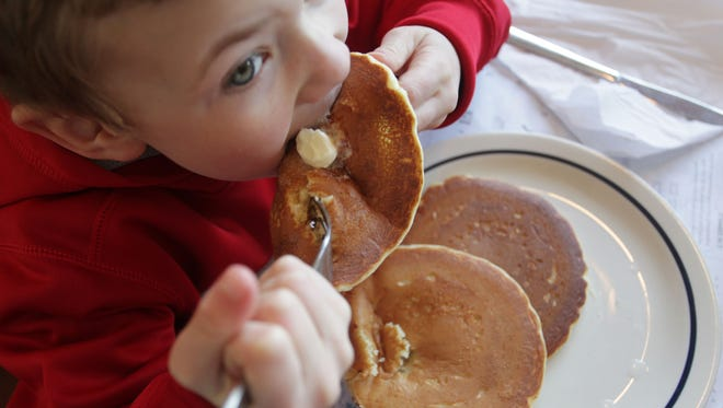 In 2014, Caden Vorst, 6, of Ozark, enjoyed a free short stack on National Pancake Day at a Springfield IHOP restaurant. National Pancake Day at IHOP is an annual fundraiser for Children's Miracle Network hospitals.