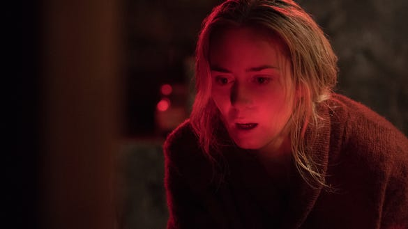 """Emily Blunt plays Evelyn Abbott plays Lee Abbott in """"A Quiet Place."""""""