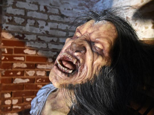 Paranormal Penitentiary includes this werewolf casted using the face of Bob Kurtzman, creative designer for the attraction taking over the Ohio State Reformatory during the Halloween season.