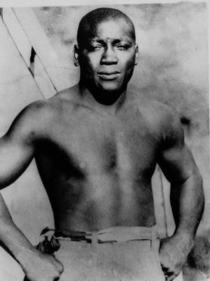 Undated photo showing former heavyweight boxing champion Jack Johnson.