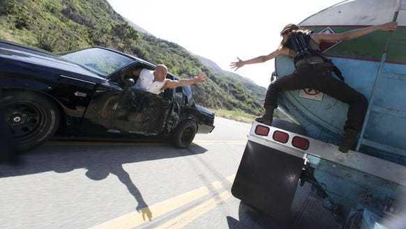 Dom (Vin Diesel) tries to rescue main squeeze Letty