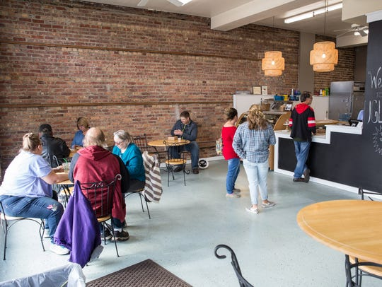 A view of the dinning room at the Ugly Pie on West