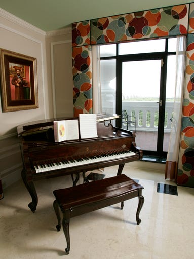 Art With Living Room Scene Grand Piano