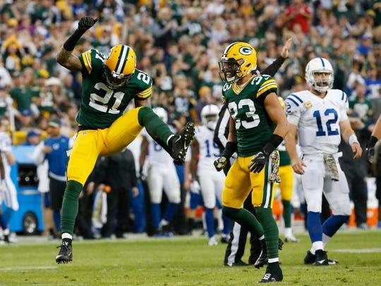 Green Bay Packers' Ha Ha Clinton-Dix celebrates after