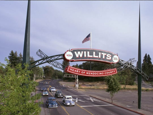 The Willits Arch over Highway 101 in Willits, California used to be the 1964 Reno Arch in downtown Reno.