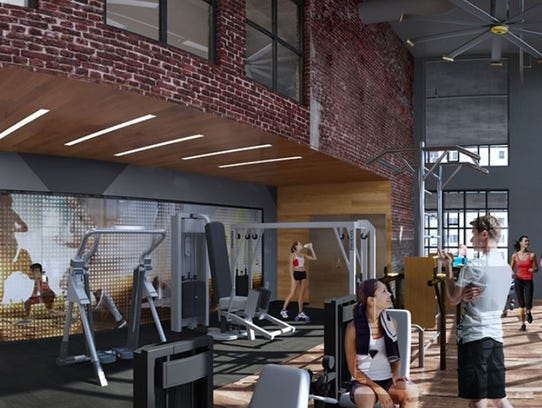 A view of the fitness center planned at 505.