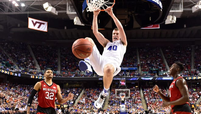 Duke and center Marshall Plumlee were awarded the NCAA tournament's South Region No. 1 on Sunday.