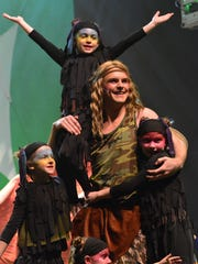 """A selection from Rumson-Fair Haven High School's production of """"Tarzan."""""""