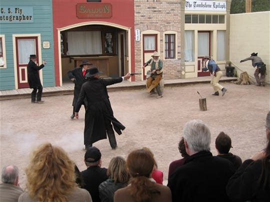 In this 2011 file photo, actors portraying Wyatt Earp