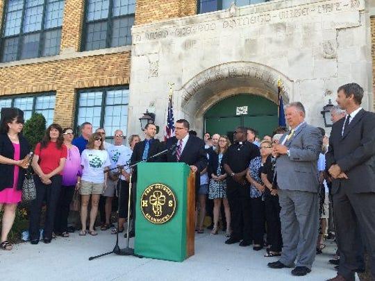 East Detroit Schools Superintendent Ryan McLeod is