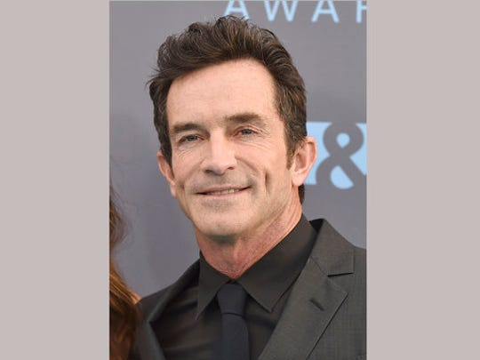 """FILE - In this Jan. 17, 2016 file photo, Jeff Probst arrives at the 21st annual Critics' Choice Awards in Santa Monica, Calif. The Nielsen company said the debut of a new """"Survivor"""" edition on CBS with host Jeff Probst was seen by 7.7 million viewers last week. CBS had 13 shows that were on the 18 most-watched prime-time programs last week."""