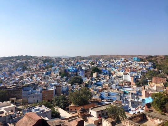 This 2017 photo shows the city of Jodhpur, India, known
