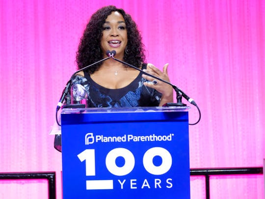 Shonda Rhimes speaks at the Planned Parenthood 100th Anniversary Gala on Tuesday, May 2, 2017 in New York.