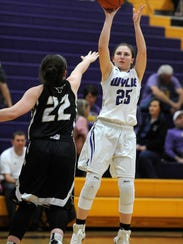 Wylie's Lauren Fulenwider (25) puts up a shot during