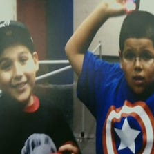 David Barajas Jr., 12, and his 11-year-old brother, Caleb, right, were killed in December 2012 when a drunken driver plowed into the back of their father's out-of-gas pickup truck as they pushed him along a dark country road to their home in Alvin, Texas.