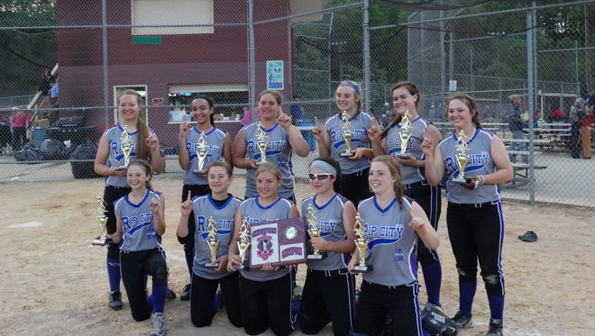 The Western North Carolina Rip City 14 and under softball team won the Top Gun tournament Saturday in Marion.