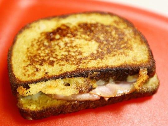 Monte Cristo: French Toast Ham & Cheese sandwich.