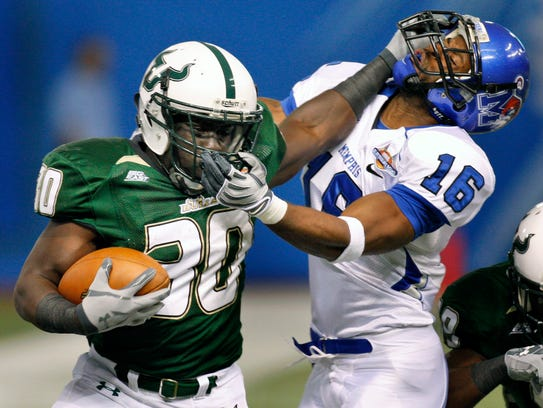 South Florida running back Benjamin Williams (30) and