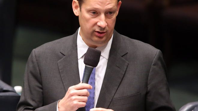 Sen. Joe Negron, R-Stuart comments on the budget bill at the end of the special session in June 2015 in Tallahassee, Fla. Before Negron becomes Florida Senate president next year, he already used his clout to get many high-profile issues passed in the legislative session that ended this month. (File photo)