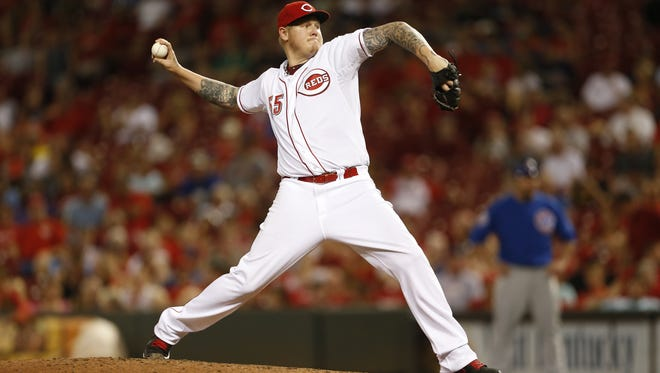 Mat Latos was traded from the Cincinnati Reds to the Miami Marlins on Thursday.