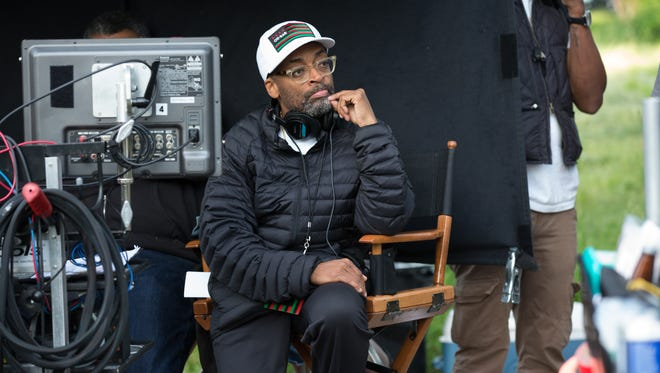 Spike Lee, on the Chicago set of his film 'Chi-Raq.'