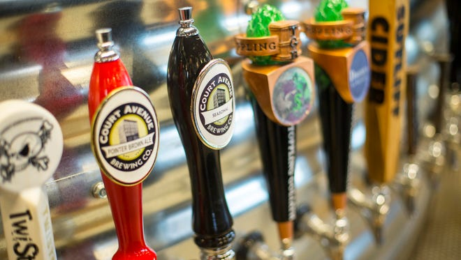 Iowa Taproom with 160 beers on tap is located south of Court Avenue.