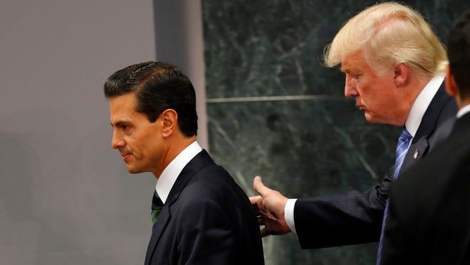 La visita de Donald Trump a México redujo aún más la popularidad de Enrique Peña Nieto.