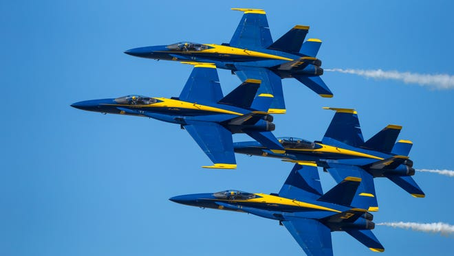 The U.S. Navy Blue Angels are scheduled to perform during EAA's AirVenture, which runs July 24 through 30.