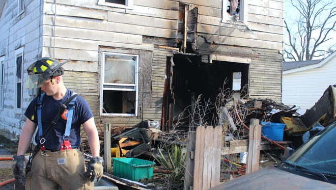 Marion firefighters were called to 188 Elk Ave., for a fire that heavily damaged the house and displaced five residents, according to the Marion City Fire Department and American Red Cross.