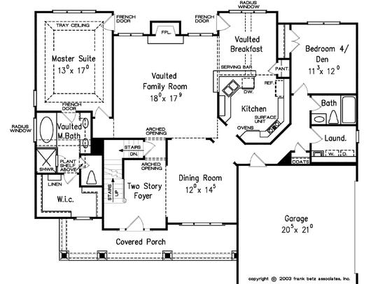 With the master suite and a guest room on the main