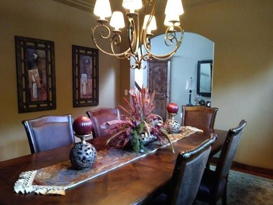 A formal dining room offers elegance at 2255 Chelmsford
