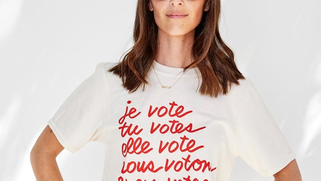 When We All Vote is a non-profit, nonpartisan organization launched by political and Hollywood celebrities to increase participation in U.S. elections, and closing the race and age voting gap. It collaborated with Parisian brand Clare V for a collection to raise awareness and funds for the cause.