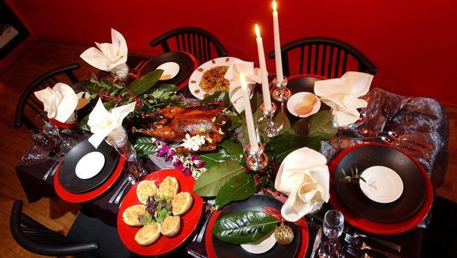 Festive Christmas dinner.