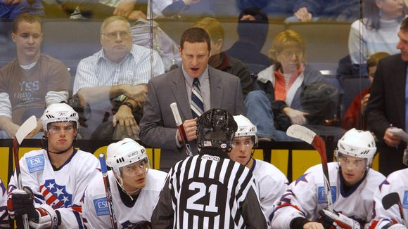 Randy Cunneyworth, shown here during a 2006 game, coached the Amerks for eight seasons, from 2000-01  through 2007-08.
