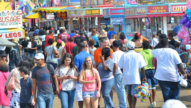 A large crowd turns out for the final day of the 2014 Mississippi State Fair on the Mississippi Fairgrounds in Jackson.