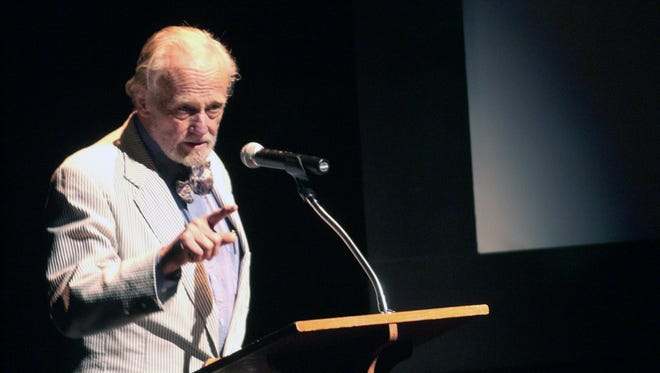 John Ehle spoke during the Wilma Dykeman memorial at the Diana Wortham Theater in 2007