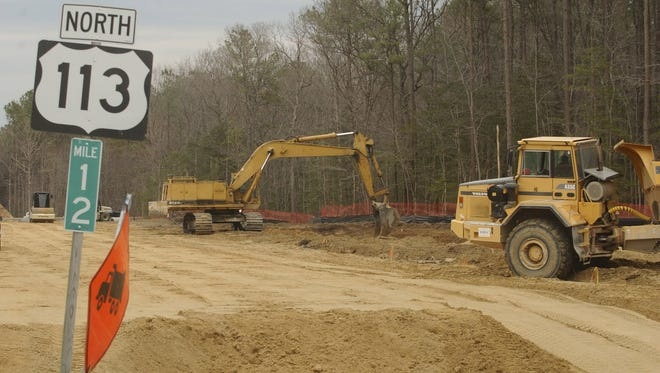 Shown here under construction, the final phase of Route 113's widening was announced Tuesday by Governor Larry Hogan.