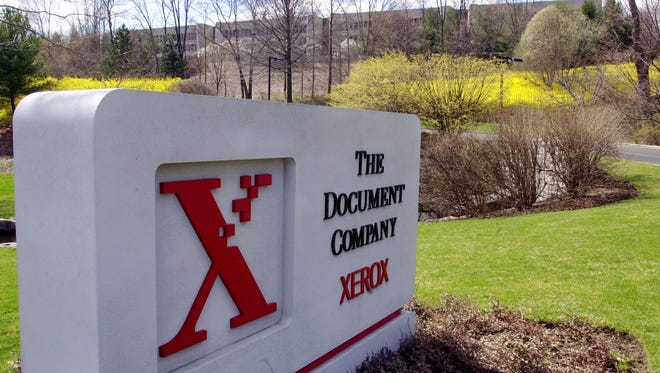 File photo taken in 2000 shows the Xerox sign outside the company's headquarters in Connecticut.