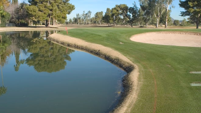 Most historic (Jack Nicklaus, Arnold Palmer, Ben hogan and Byron Nelson all won here) No. 18 hole at the Phoenix Country Club, 2901 N. Seventh St. Its predecessor course, a dusty nine-hole course at Third Street and Roosevelt, was the first in Arizona.