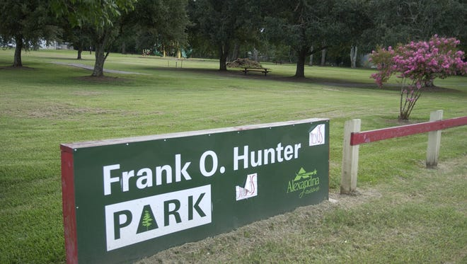Frank O. Hunter Park, located on Willow Glen River Road in Alexandria.