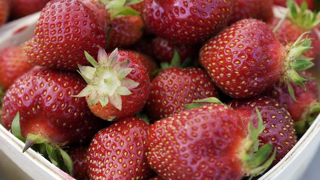These fresh strawberries are from Felzke Farms in DeWitt.