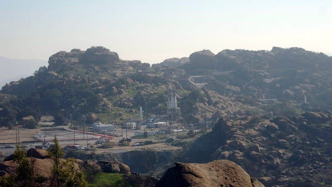 The Santa Susana Field Lab in the hills east of Simi Valley.