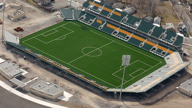 The Rochester Rhinos are planning to move out of Marina Auto Stadium.