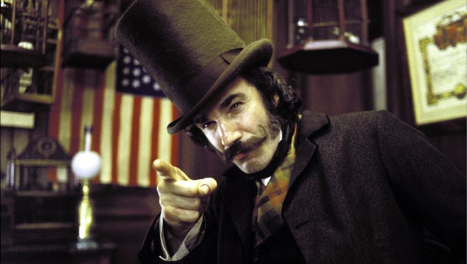 "Daniel Day-Lewis became an expert at knife-carving and knife-throwing to play Bill the Butcher in ""Gangs of New York."""