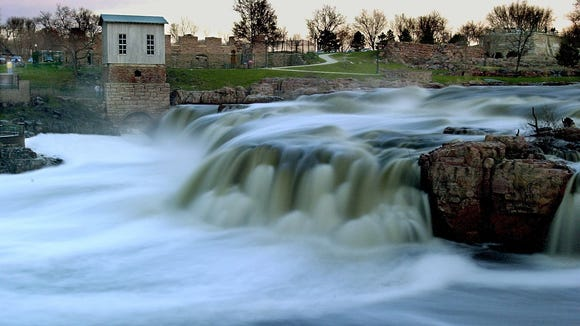 Falls Park in downtown Sioux Falls is a popular destination